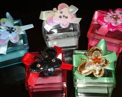 Caixa decorada com Borboleta de tecido