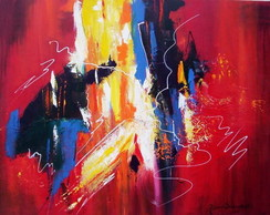 ABSTRATO RED - ACR�LICO