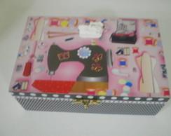 159: Caixa de costura rosa