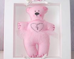 Porta Maternidade - Urso Rosa Modelo 01