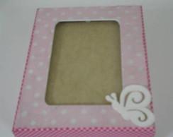 164: Caixa porta-retrato rosa