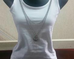 ... Regata em cotton c aplicação em prata b7670e1a92109