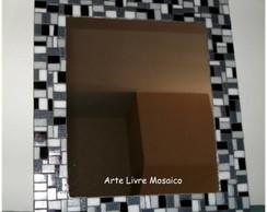 Espelho Preto e Cinza