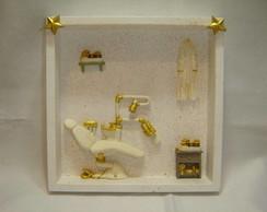 Quadro miniatura consultorio de ouro