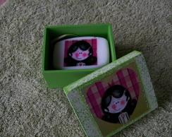 caixa de sabonete menina