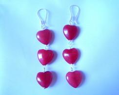 Brinco Prata e Jade vermelha, usado comprar usado  Brasil