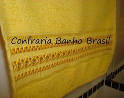 Toalha lavabo amarela