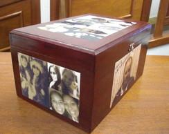 Caixa Ba� Personalizada c/ Fotos Antigas