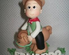 Topo de bolo cowboy -tema fazenda