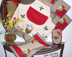 Conjunto Cozinha P�ssaros e Flores
