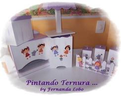 Kit Higiene em MDF para Beb�
