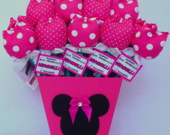 Vaso com 30 L�pis Tulipas - Minnie Pink