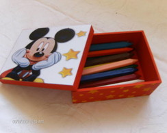 PORTA L�PIS COM O TEMA DO MICKEY