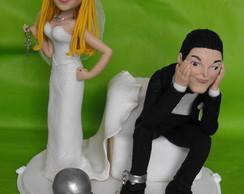 Topo de bolo casal chave