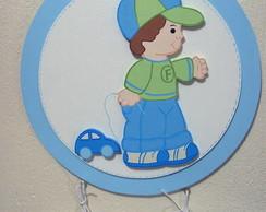 Placa porta motivo menino