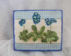 Caixinha Flor Azul