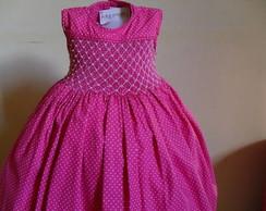 Vestido Rosa Po� Lindo Casinha de Abelha