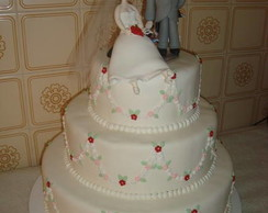 Bolo Cenogr�fico para casamento