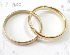 Alian�a Floq em ouro 18k mod extra fina*