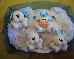 Lembrancinha de nascimento em biscuit