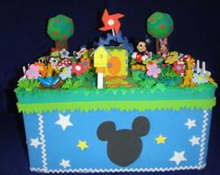 Caixa de bolo turma do Mickey