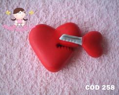 C�d 258 Molde de cora��o com chave