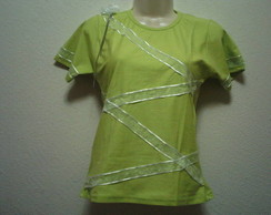 camiseta baby look customizada