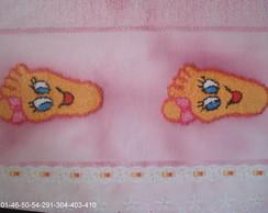 toalha de rosto pezinho menina