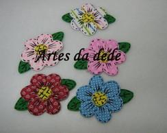 Apliques de flores em EVA estampado