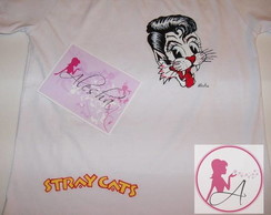 Stray Cats - babylook ou camiseta