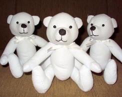 Urso Teddy Piquet Branco