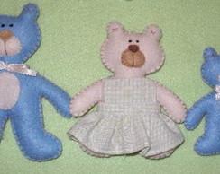 Fam�lia de Ursos em Feltro