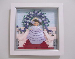 Quadro Paper Sculpture Princesa