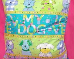Capa de almofada Love My Dog