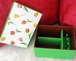 Caixa de costura mini - tulipa