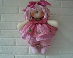 Projeto molde: Boneca Rebeca Rosa