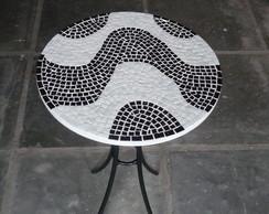 Mesa com Mosaico 40 cm de diametro