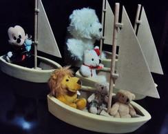 Barco canoa decora��o festa infantil