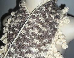 Cachecol, estola e scarf Tricot
