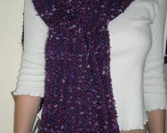 Cachecol de l� roxo, violeta (vendido)