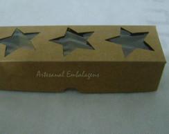Caixa Papel Kraft. 3 Estrelas Pct c/ 20