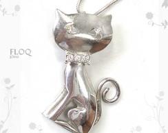 Gatinho dan�arino Floq em prata*