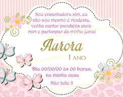 Convite Borboleta Rosa E Marrom Elo7