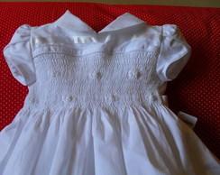 Vestido branco para beb�