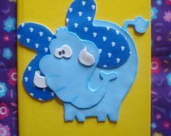 caderno elefante em eva