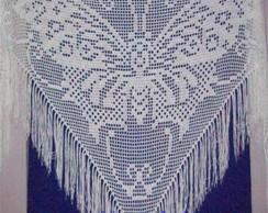 Xale em croch� fil� LA001