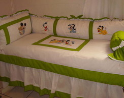 Kit de ber�o Mickey e turma 7 pe�as