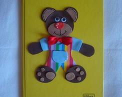 caderno em eva urso