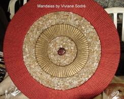 Mandala energia - painel redondo 50cm