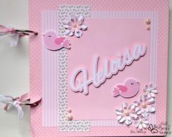 Livro de mensagens rosa elo7 for Paginas decoradas